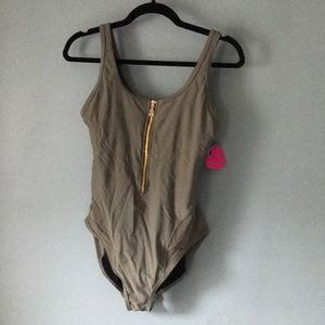 Gabi fresh olive swimsuit one piece size 14